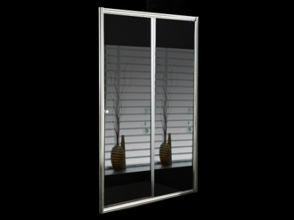 Schiebeduschwand mit Spiegel CRISTINA - 120x190cm