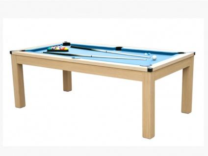 Multifunktionstisch Billard & Tischtennis BALTHAZAR - Blau