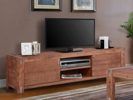 TV-Möbel Oakland - 2 Türen & 2 Nischen - Kirschholzfarben