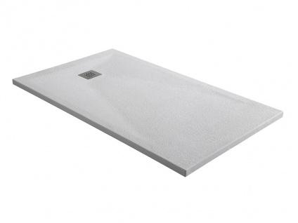 Duschwanne mit Siphon MIRNOS - 1200x800x35 mm - Weiß