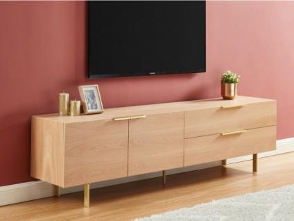 TV-Möbel VALOLA - Holz & Metall - Naturfarben