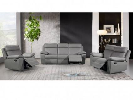 Couchgarnitur 3+2+1 Relax WIGAN - Grau