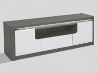 TV-Möbel mit LED-Beleuchtung PERCEPTION - 2 Türen & 1 Schublade