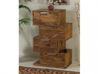 Kommode Holz massiv THAIS - 4 Schubladen