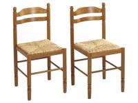 Stuhl 2er-Set Holz massiv Jeanne