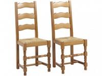 Stuhl 2er-Set Holz massiv Segu
