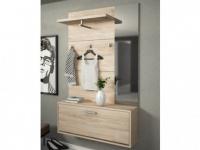 Garderobe CALEB - 1 Tür & 1 Ablage - Eichenholzfarben