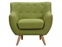 Sessel Stoff Serti - Grün
