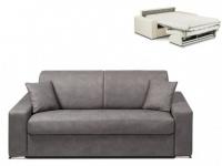 Schlafsofa 2-Sitzer Stoff EMIR - Grau - Liegefläche: 120cm - Matratzenhöhe: 14cm