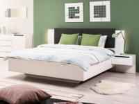 Bett mit LED-Beleuchtung & 2 Nachttischen FIRMIN - 160x200 cm
