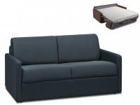 Schlafsofa 2-Sitzer Stoff CALIFE - Marineblau - Liegefläche: 120 cm - Matratzenhöhe: 14cm