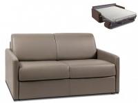 Schlafsofa 2-Sitzer CALIFE - Taupe - Liegefläche: 120 cm - Matratzenhöhe: 14cm