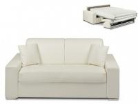 Schlafsofa 2-Sitzer EMIR - Weiß - Liegefläche: 120cm - Matratzenhöhe: 22cm