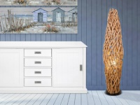 Stehlampe Holz IRATY - Höhe: 150 cm