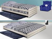 Stapelbett Massivholz APOLLIN + Lattenrost - 2x90x200 cm