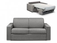 Schlafsofa 2-Sitzer Stoff CALITO - Anthrazit - Liegefläche: 120 cm - Matratzenhöhe: 22cm