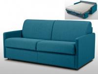 Schlafsofa 3-Sitzer Stoff mit Matratze Calife - Türkis - Liegefläche: 140 cm