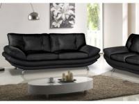 3-Sitzer-Sofa Forrest - Schwarz