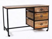 Schreibtisch Holz & Metall VENANGO - 3 Schubladen