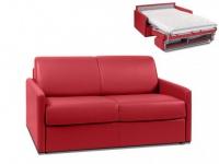 Schlafsofa 2-Sitzer CALIFE - Rot - Liegefläche: 120 cm - Matratzenhöhe: 14cm