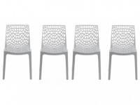 Stuhl 4er-Set Diadem - Kunststoff - Weiß