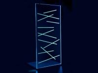 LED-Duschtrennwand Seitenwand italienische Dusche Farbwechsel Lolita - 120x200cm