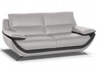 Ledersofa 3-Sitzer Adagio - Standardleder - Grau-Anthrazit