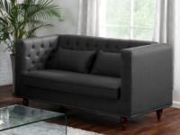 2-Sitzer-Sofa Stoff Iringa - Grau