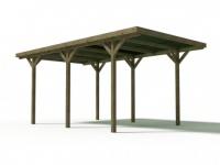 Carport Holz ZEPHYR - 15, 5 m² - Mit PVC-Dach