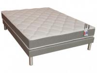 Taschenfederkernmatratze Lattenrost Set ISOLYS von DREAMEA - Grau - 140x190cm