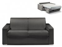Schlafsofa 2-Sitzer CALITO - Schwarz - Liegefläche: 120 cm - Matratzenhöhe: 14cm