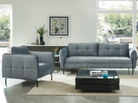 Couchgarnitur 3+1 Samt CLORIS - Grau
