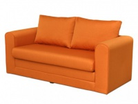 Schlafsofa Stoff Donau II - Orange