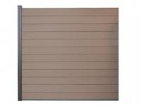 Verlängerung Gartenzaun Sichtschutz Barrera III - 180x180 cm - Braun