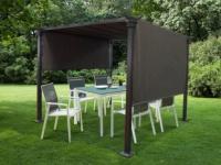 Garten Pavillon Segeltuch SENTINELLA - B 300 x T 300 x H 220 cm