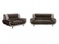 Couchgarnitur Stoff 3+2 Nigel - Braun