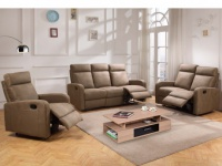 Couchgarnitur Relax Stoff 3+2+1 CARLINA - Taupe