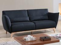 Sofa 3-Sitzer Stoff Luanda - Blau