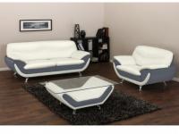 Couchgarnitur 3+1 Indiz - Grau & Weiß