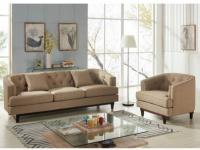 Couchgarnitur 3+1 Stoff Elton - Beige