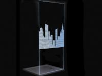 LED-Duschtrennwand OKLAHOMA - 120x200cm