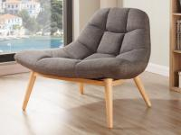 Lounge-Sessel Stoff Kribi - Grau