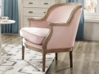 Sessel Stoff Barock Alienor - Limited Edition - Rosa