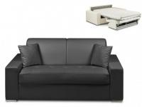 Schlafsofa 2-Sitzer EMIR - Schwarz - Liegefläche: 120cm - Matratzenhöhe: 14cm