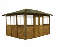 Gartenpavillon Poolüberdachung Holz Copacabana - 10m²