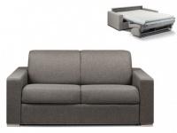 Schlafsofa 2-Sitzer Stoff CALITO - Anthrazit - Liegefläche: 120 cm - Matratzenhöhe: 14cm