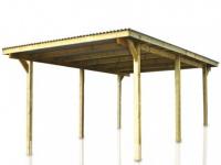 Carport Flachdach Holz TOMICA - 500x300cm (15m²)