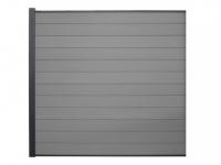 Verlängerung Gartenzaun Sichtschutz Barrera III - 180x180 cm - Grau