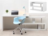 Schreibtisch NICEPHORE - Tischplatte um 360° schwenkbar