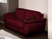 Ledersofa 2-Sitzer Salerne - Luxusleder - Rot
